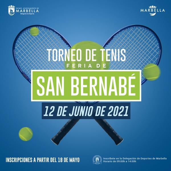 El Polideportivo Paco Cantos acogerá los días 12, 13, 19 y 20 de junio el Torneo de Tenis Feria de San Bernabé 2021