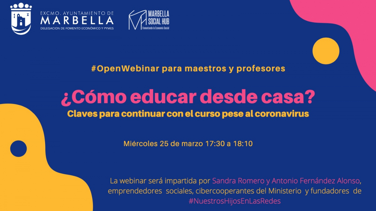 Fomento Económico organiza mañana miércoles un taller práctico online dirigido a profesores para educar desde casa