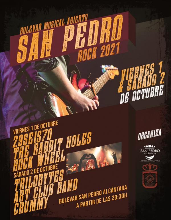 Este fin de semana se celebra el Bulevar Musical Abierto San Pedro 2021, con la actuación de seis grupos musicales