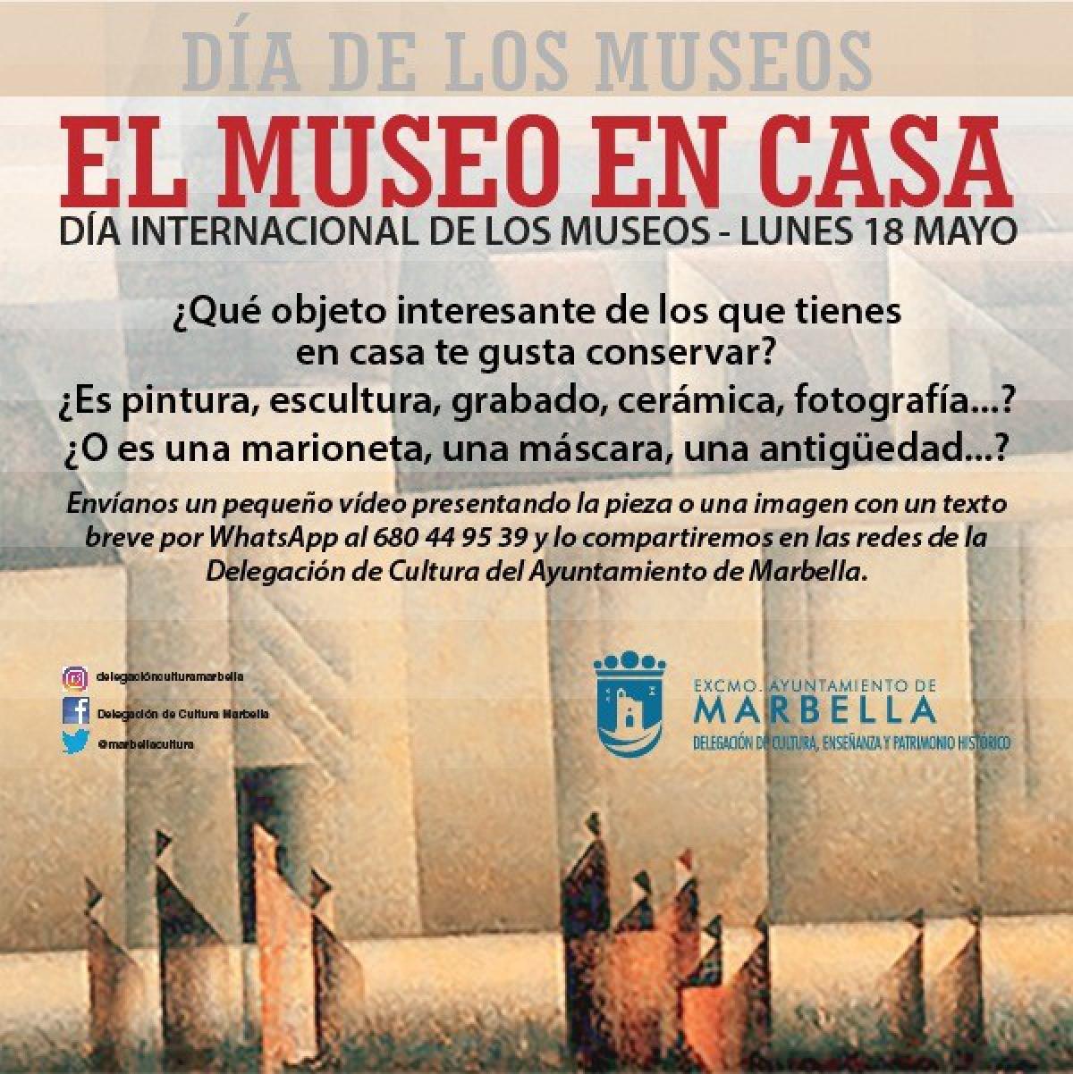 La concejalía de Cultura invita a los ciudadanos a convertirse en museólogos en sus propios hogares para celebrar el Día Internacional de los Museos el 18 de mayo