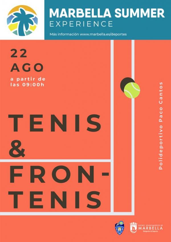 Abierto el plazo de inscripción del Torneo de Tenis y de Frontenis Marbella Summer Experience 2020