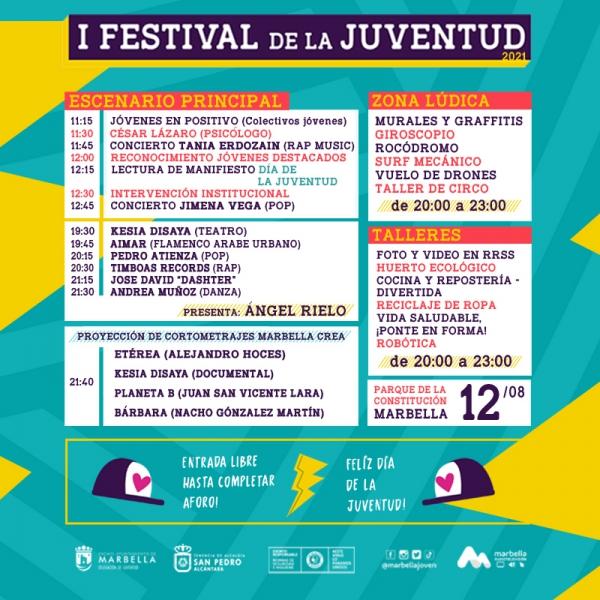 Marbella conmemora este jueves el Día Internacional de la Juventud con un festival en el parque de la Constitución