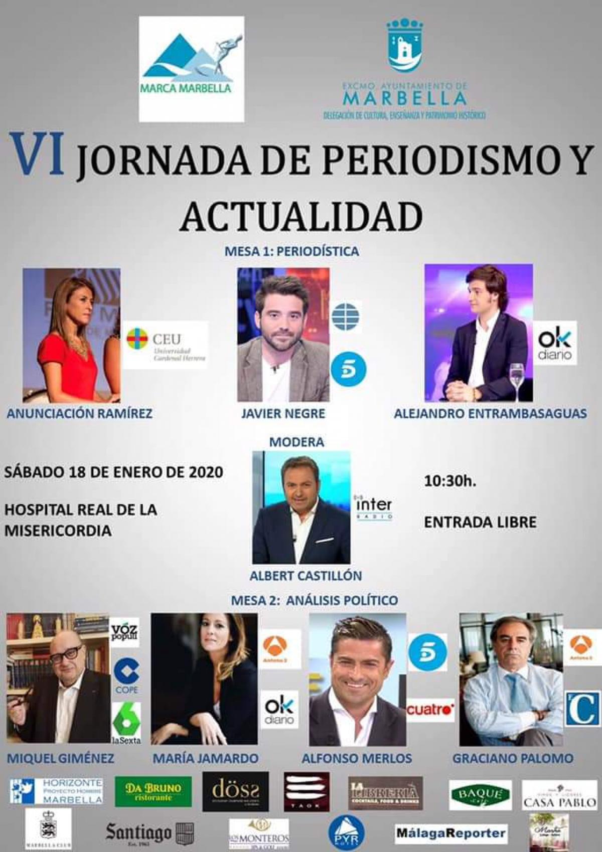 El Hospital Real de la Misericordia acogerá el próximo sábado 18 de enero la VI Jornada de Periodismo y Actualidad