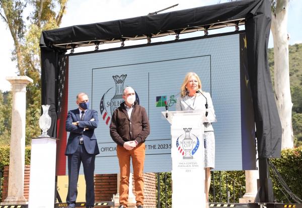"""La alcaldesa subraya en la presentación del programa Club Ambassador 2023 que la Solheim Cup """"será el gran escaparate para mostrar al mundo todas las maravillas de la Costa del Sol"""""""