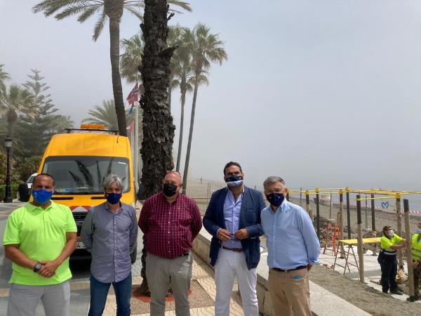 El Ayuntamiento amplía las instalaciones de calistenia del municipio con tres nuevos circuitos en las playas de La Salida, La Bajadilla y La Fontanilla, que suman más de 400 metros cuadrados