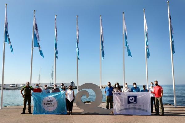 Nueve playas de Marbella logran la 'Q' de calidad turística y el certificado 'Safe Tourism' frente al Covid-19