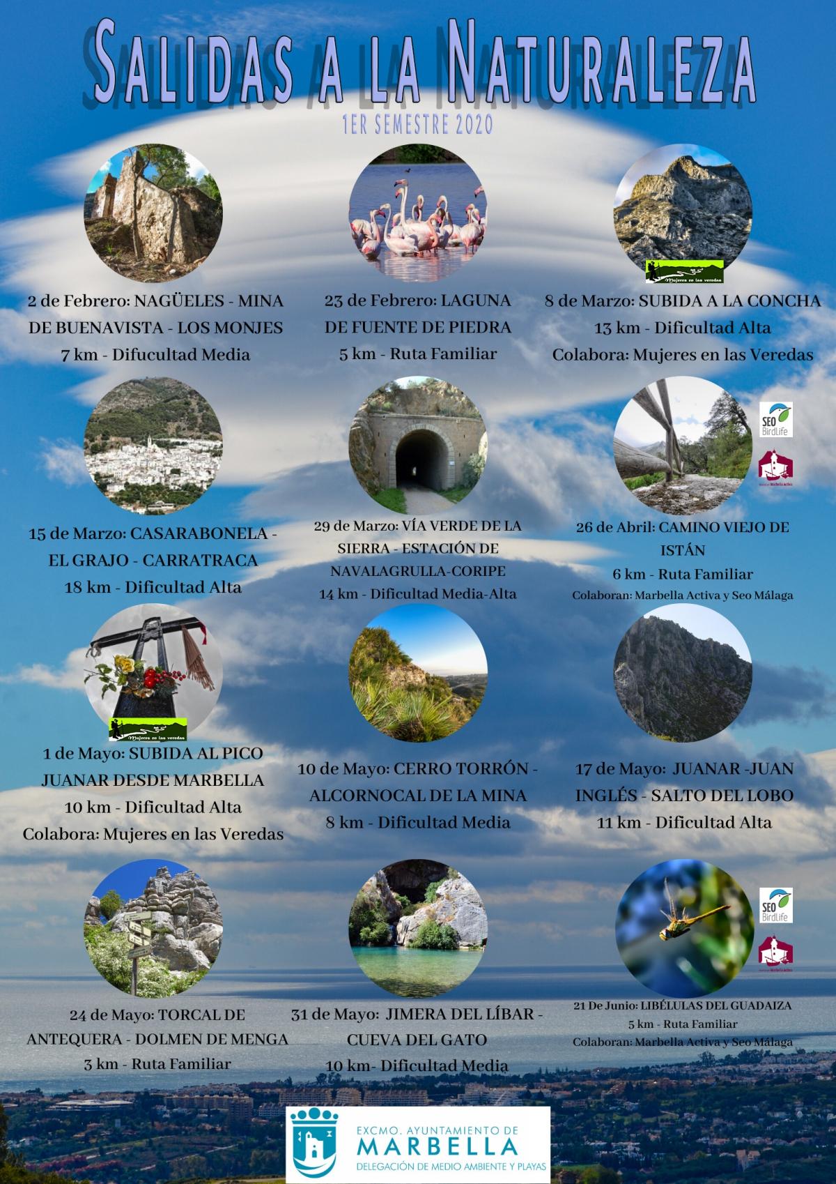 El Ayuntamiento pone en marcha este domingo día 2 una nueva edición del programa 'Salidas a la Naturaleza', que contará con un total de doce actividades