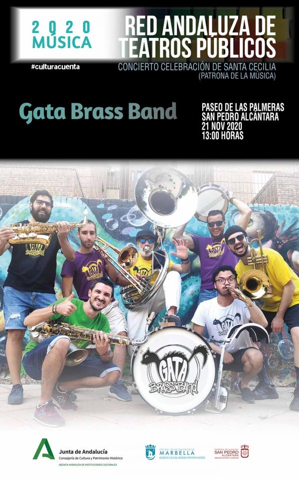 El Paseo de Las Palmeras de San Pedro Alcántara será escenario este sábado del concierto en honor a Santa Cecilia a cargo de la banda Gata Brass Band
