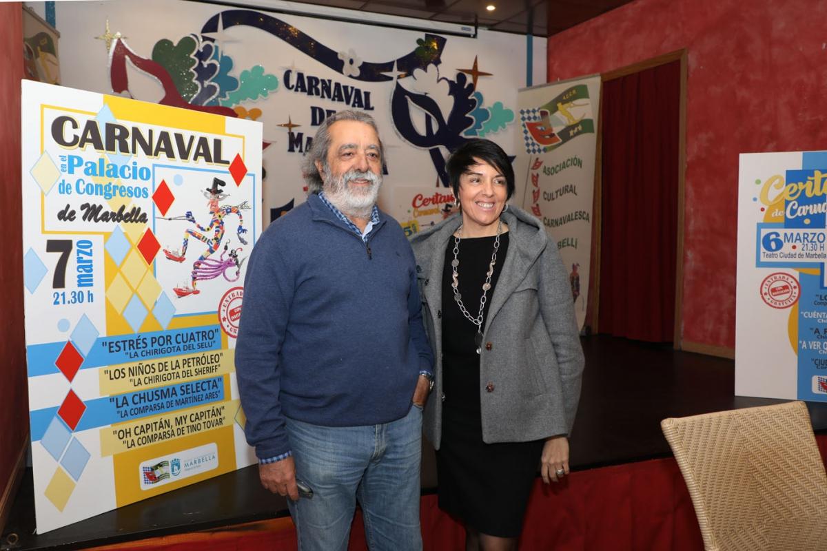 Marbella celebrará su Carnaval del 15 de febrero al 7 de marzo con un certamen de tres días con 15 agrupaciones y actividades infantiles durante la Semana Blanca como novedades