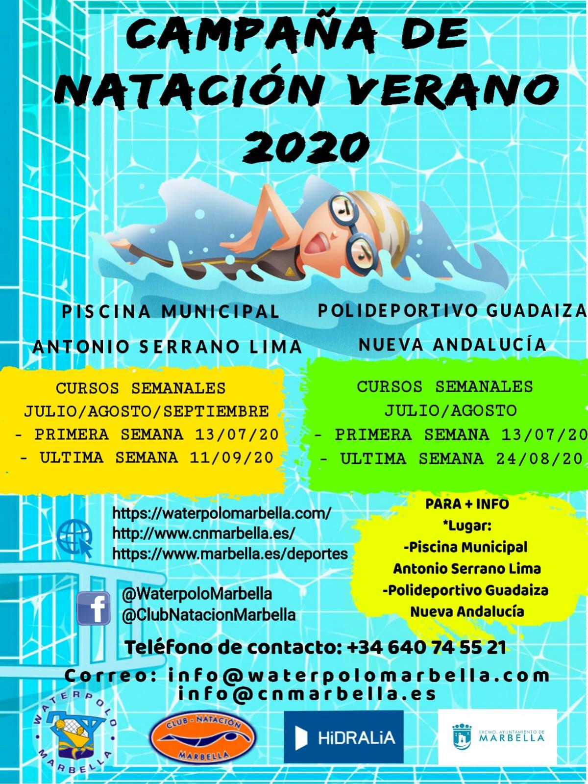 El Ayuntamiento Colabora En La Nueva Campana De Natacion De Verano Que Organizan El Club Waterpolo De La Ciudad Y El Cn Marbella
