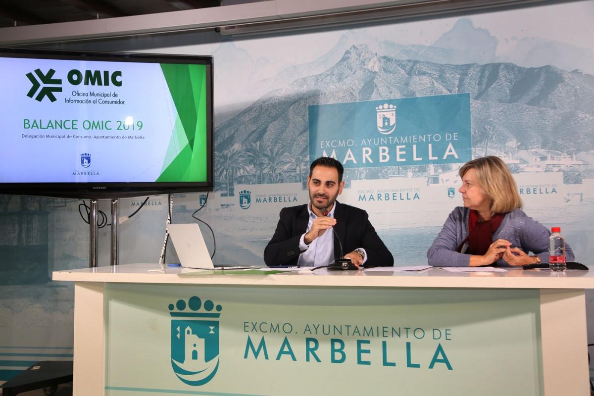 La Oficina de Información al Consumidor de Marbella tramita en 2019 un total de 7.500 actuaciones, de las que un 60% corresponden a reclamaciones formales