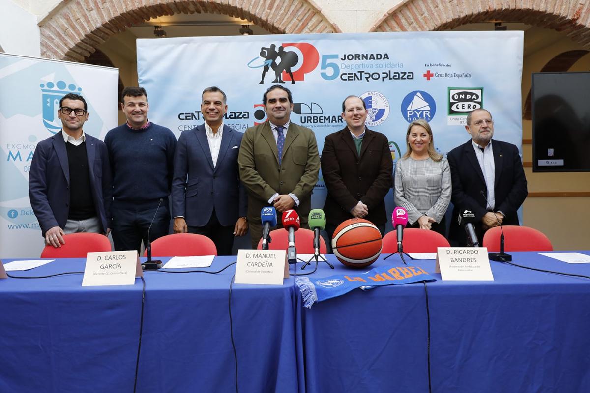 La ciudad acogerá el próximo domingo 12 de enero la 5ª Jornada deportiva solidaria Centro Plaza a beneficio de Cruz Roja y con el baloncesto como protagonista