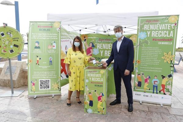 Marbella se suma a la campaña de la Fundación Ecolec para concienciar sobre la importancia del reciclaje de los aparatos electrónicos y electrodomésticos